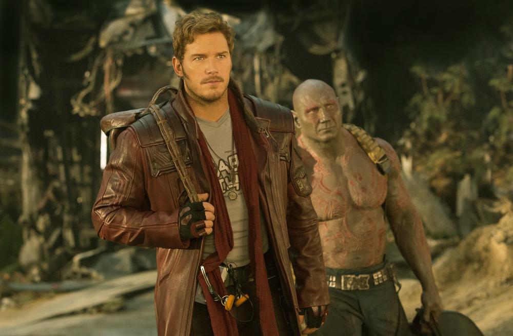 Guardiani della Galassia 2: Chris Pratt e Dave Bautista in una nuova foto