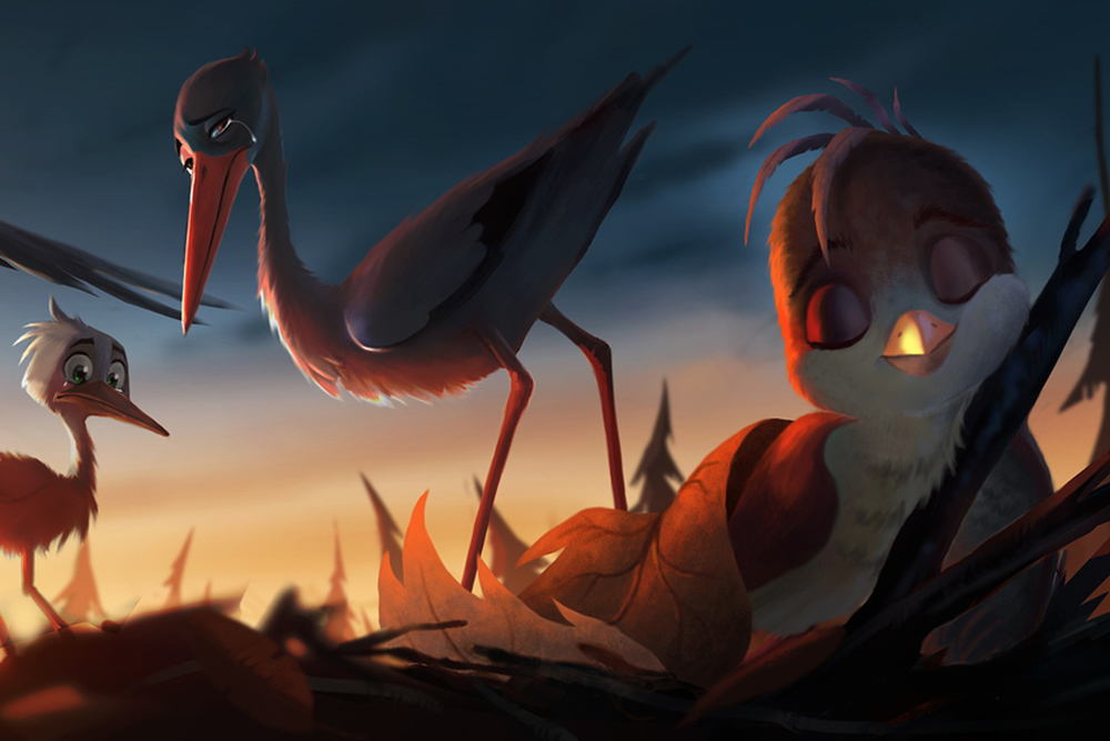 Richard the Stork: un momento del film d'animazione