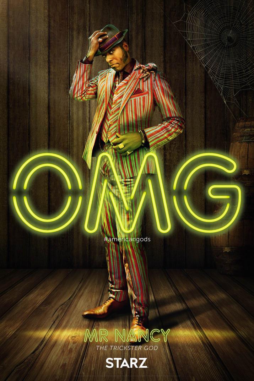 American Gods: il character poster di Mr Nancy, interpretato da Orlando Jones