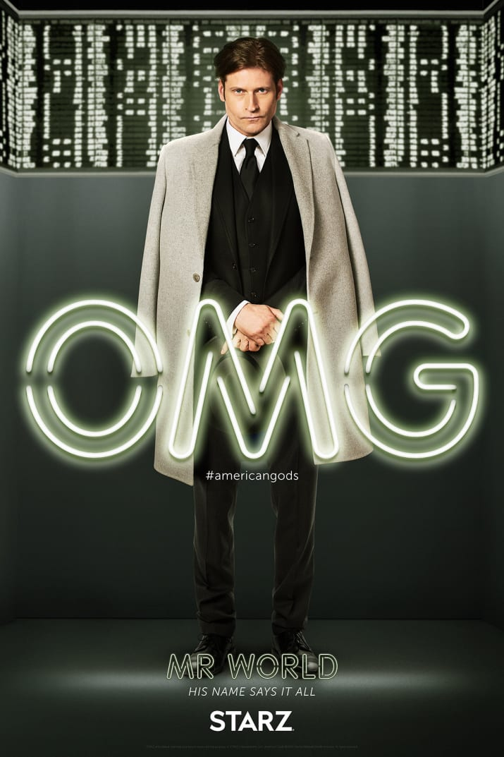 American Gods: il character poster di Mr World, interpretato da Crispin Glover