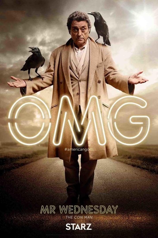 American Gods: il character poster di Mr Wednesday, interpretato da Ian McShane