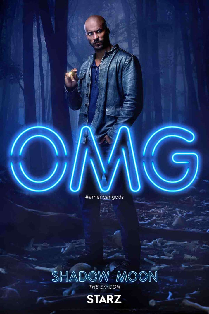 American Gods: il character poster di Shadow Moon, interpretato da Ricky Whittle