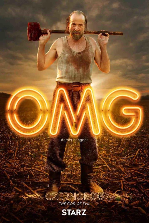 American Gods: il character poster di Czernobog, interpretato da Peter Stormare