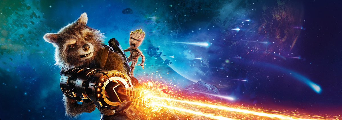 Guardiani della Galassia Vol.2 - Un banner del film dedicato a Groot e Rocket