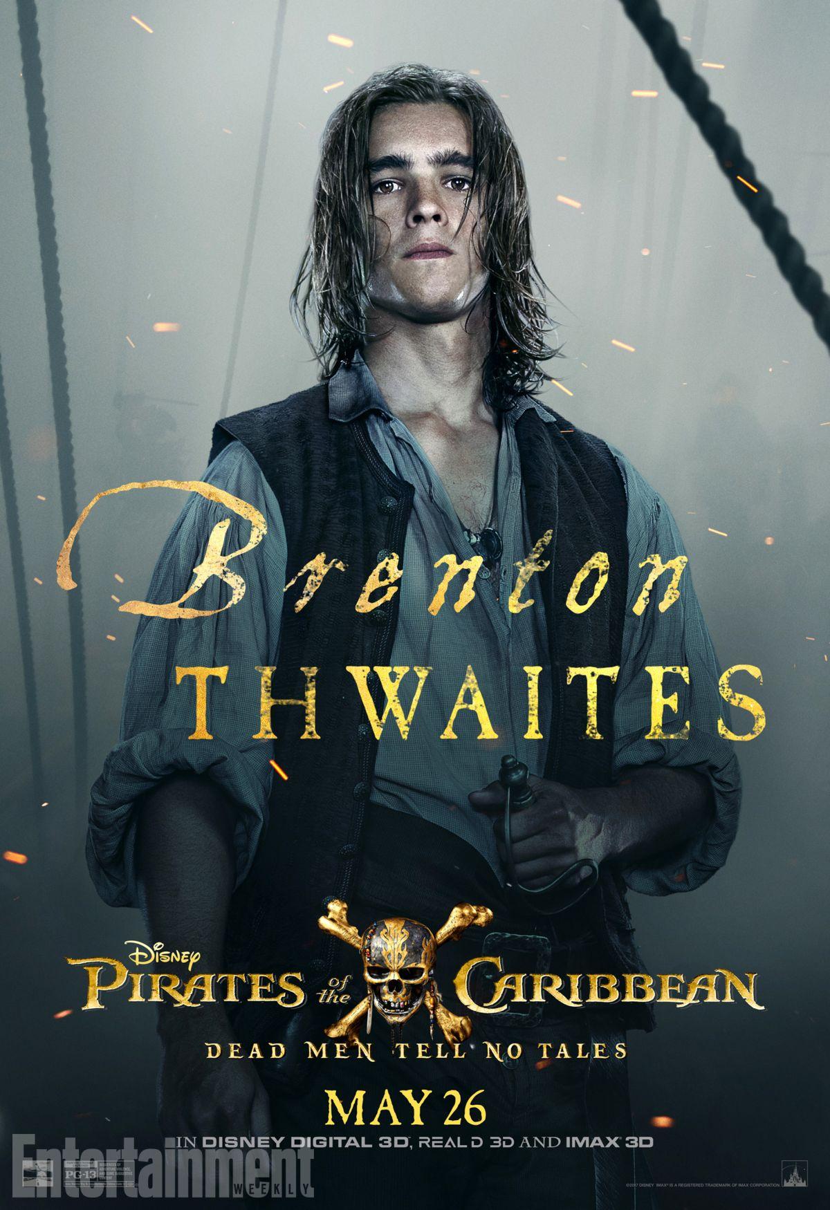 Pirati dei Caraibi: La vendetta di Salazar, il character poster di Brenton Thwaites
