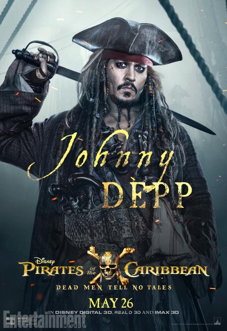 Pirati dei Caraibi: La vendetta di Salazar, il character poster di Johnny Depp