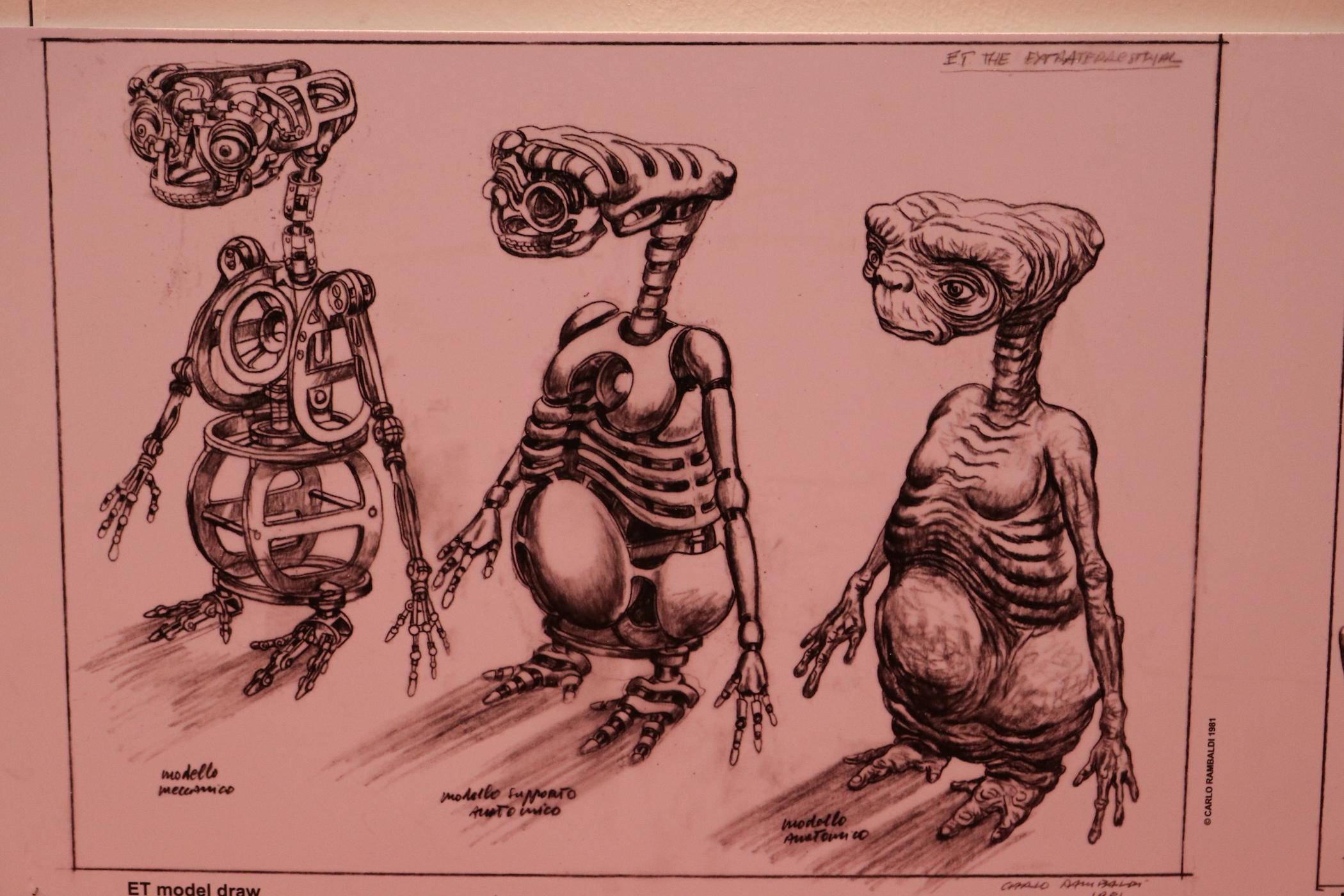 Romics 2017: studi anatomici di E.T. alla mostra dedicata a Carlo Rambaldi