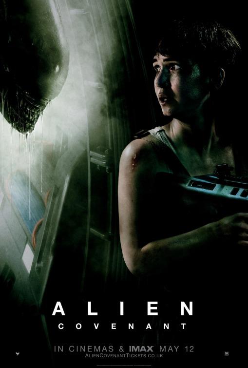Alien: Covenant, un poster del film con Katherine Waterston