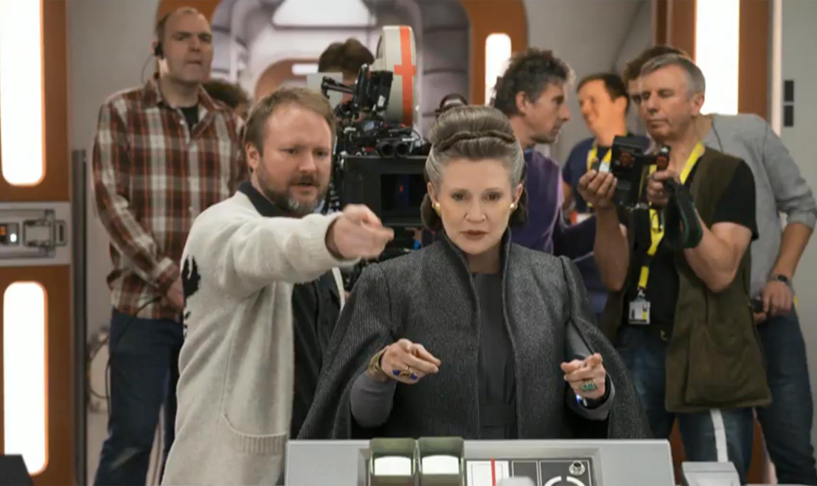Star Wars: Gli ultimi Jedi - Carrie Fisher sul set del film