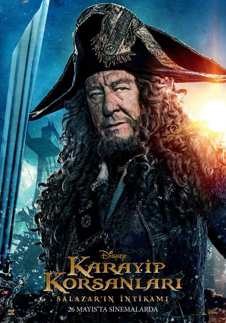 Pirati dei Caraibi: La vendetta di Salazar - Un character poster di Geoffrey Rush