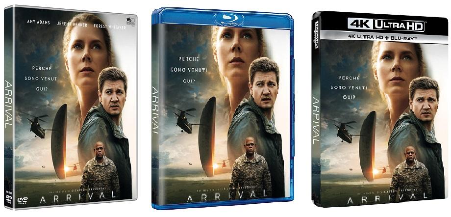 Le cover homevideo di Arrival