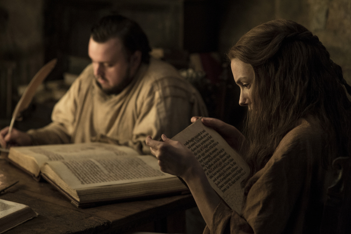 Il Trono di Spade: Sam e Gilly in una foto della settima stagione