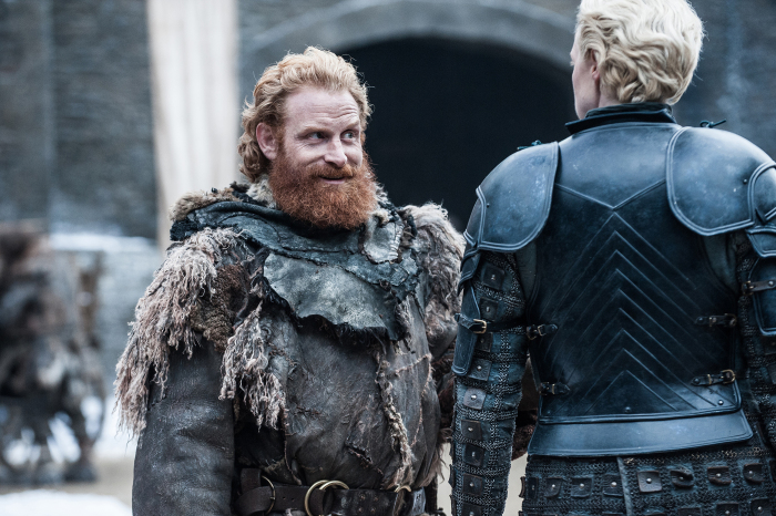 Il Trono di Spade: una foto di Tormund e Brienne