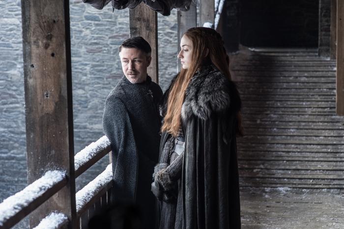 Il Trono di Spade: un'immagine di Sansa e Ditocorto