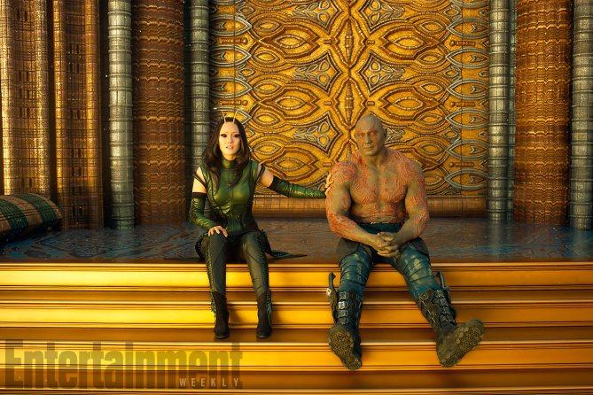 Guardiani della Galassia Vol. 2: una foto di Mantis e Drax