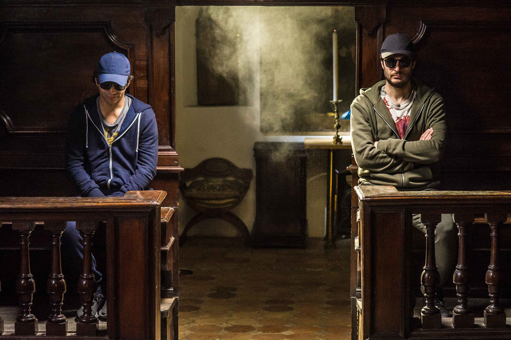 I peggiori: Lino Guanciale e Vincenzo Alfieri in una scena del film