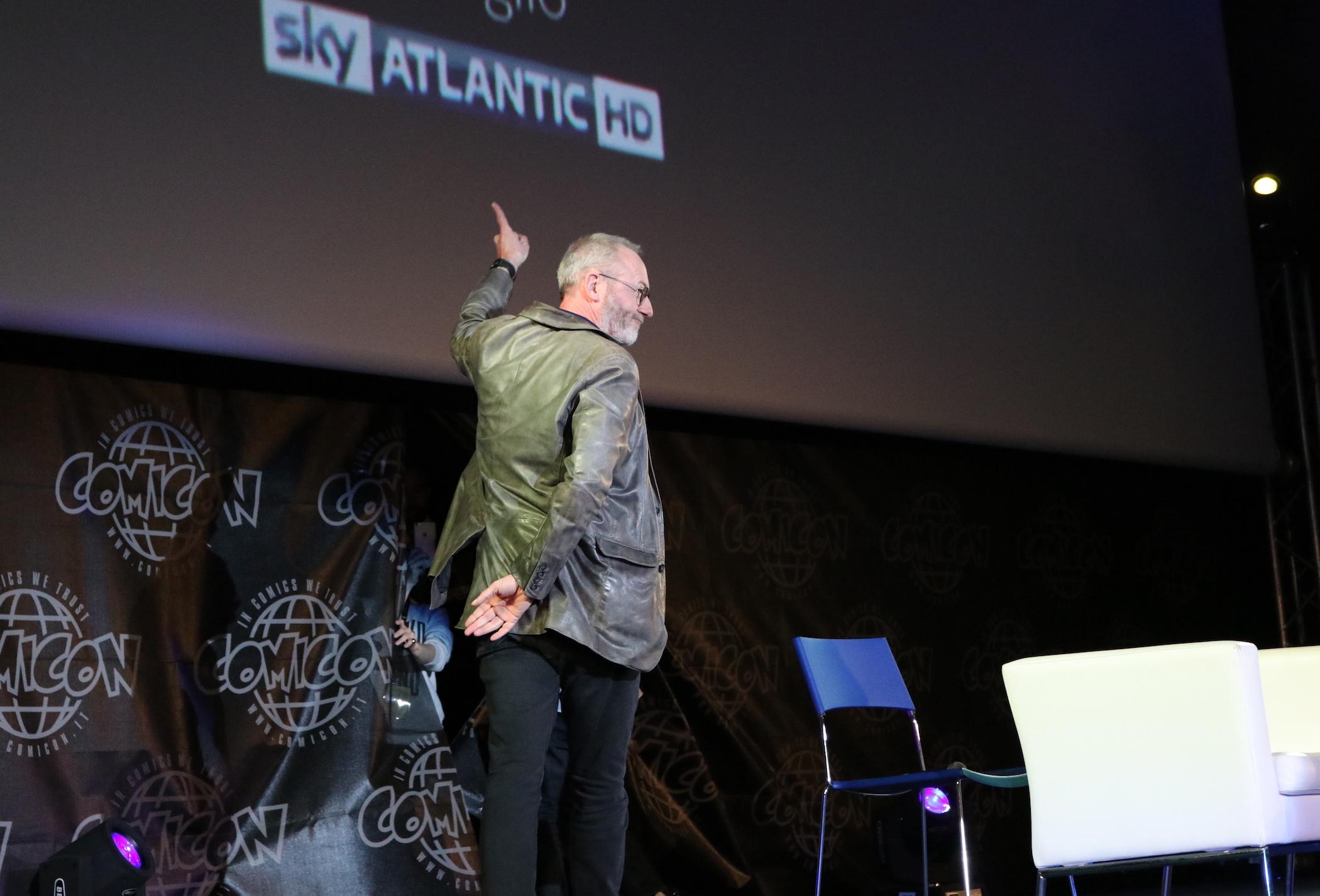 Comicon 2017: Liam Cunningham alla fine dell'incontro