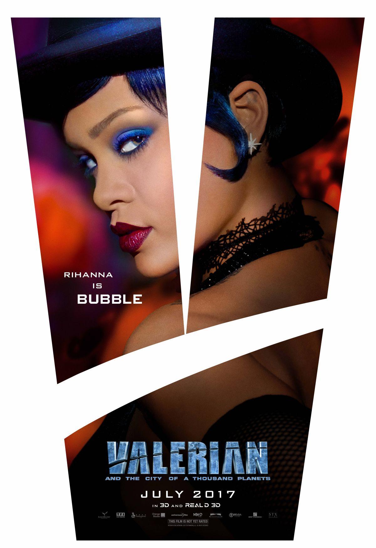 Valerian e la città dei mille pianeti: Rihanna in uno dei character poster