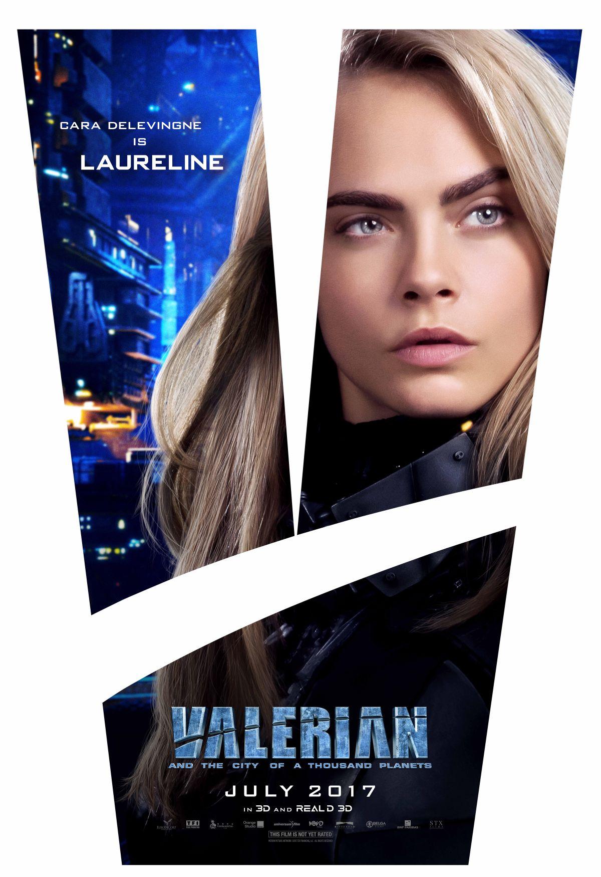 Valerian e la città dei mille pianeti: Cara Delevingne in uno dei character poster