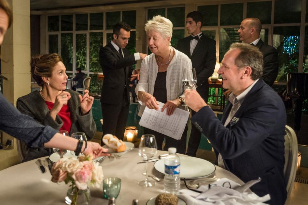 Paris Can Wait: la regista Eleanor Coppola, Diane Lane e Arnaud Viard sul set del film