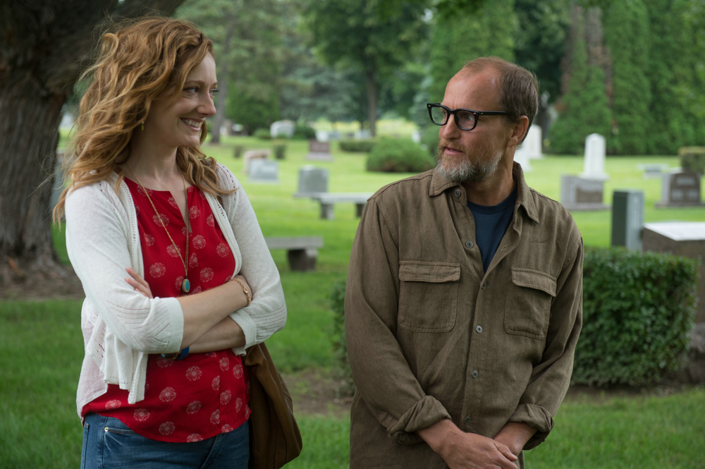 Wilson: Woody Harrelson e Judy Greer in una scena del film