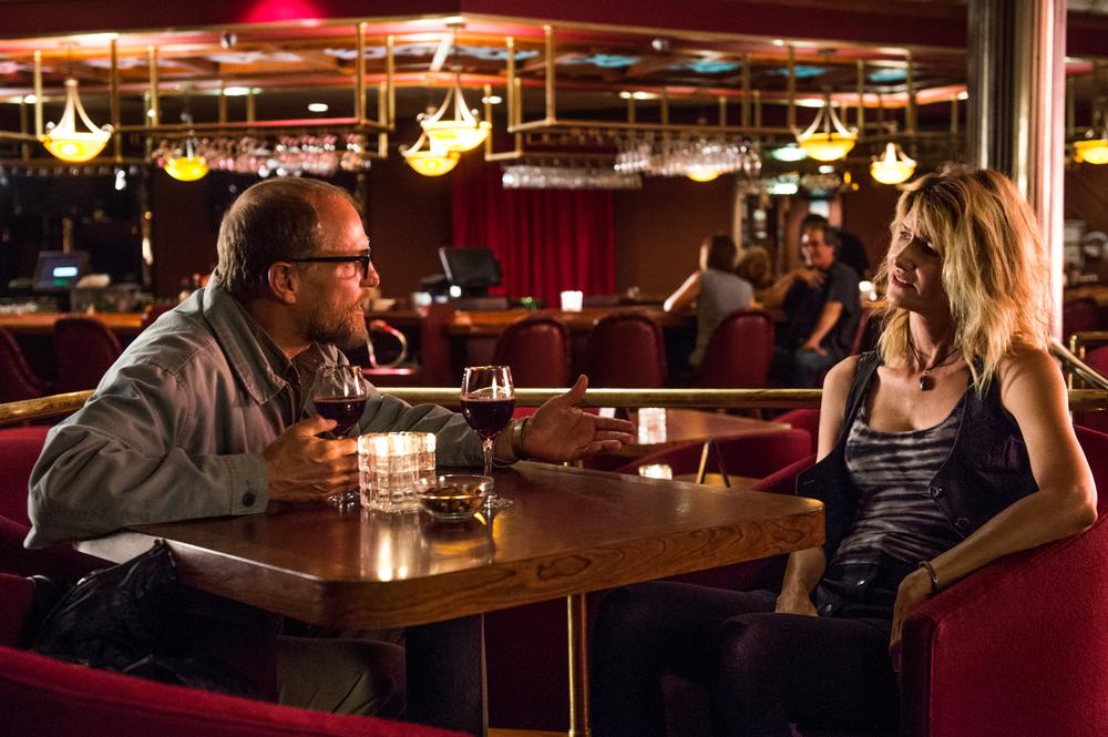 Wilson: Woody Harrelson e Laura Dern in una scena del film