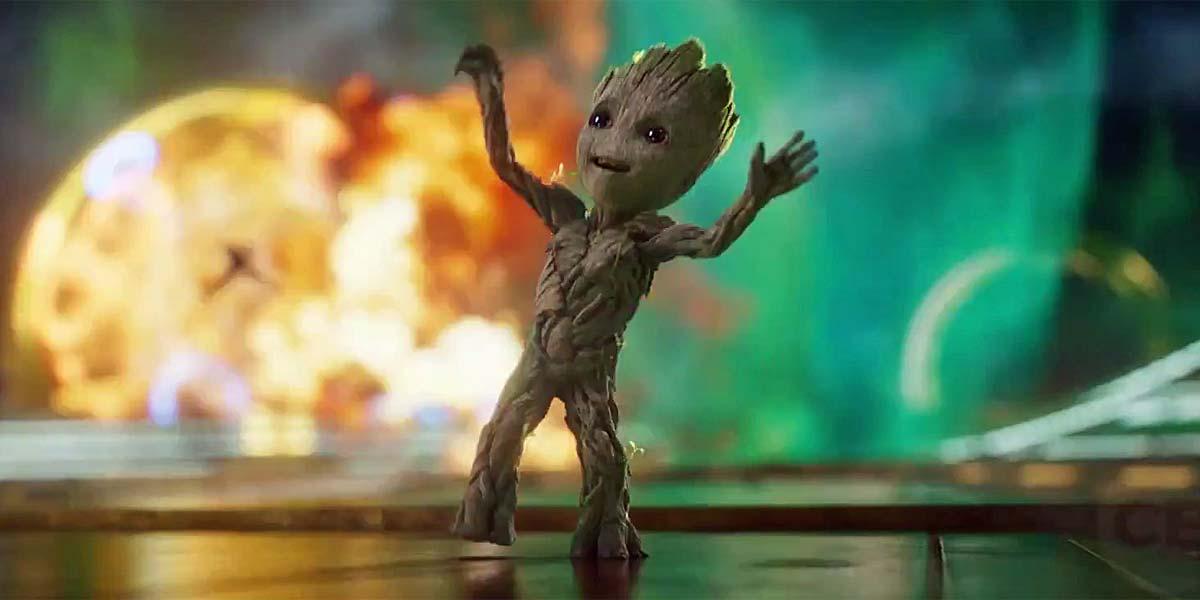 Guardiani della Galassia Vol. 2: Baby Groot balla in una foto del film