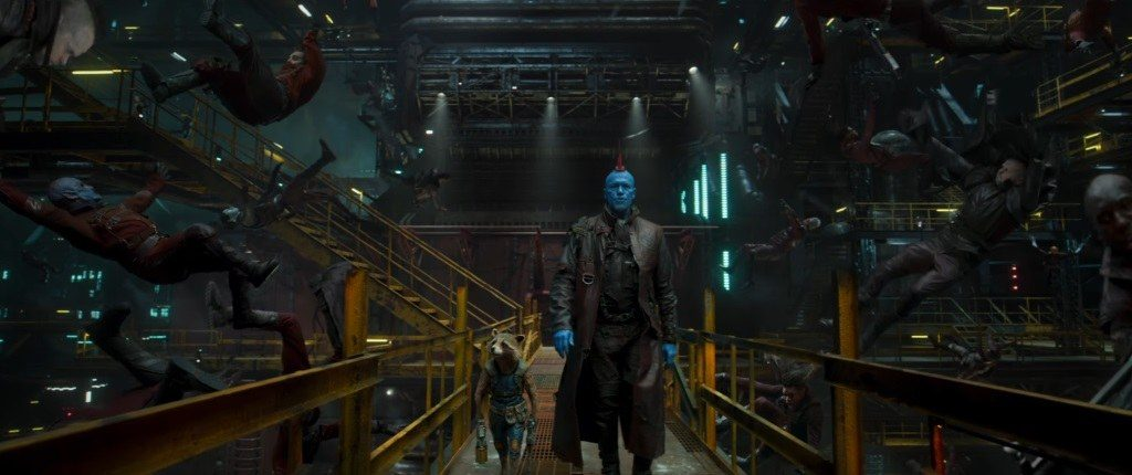 Guardiani della Galassia Vol. 2: Rocket, Groot e Yondu in una foto del film