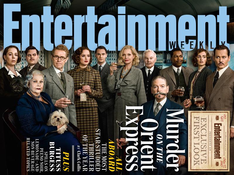 Assassinio sull'Orient Express: la copertina di Entertainment Weekly