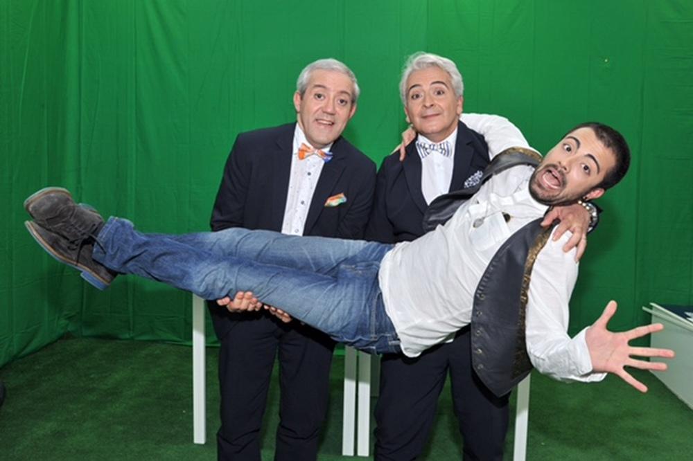 E se mi comprassi una sedia?: Pasquale Falcone, Tano Mongelli e Gianni Ferreri in un'immagine promozionale del film