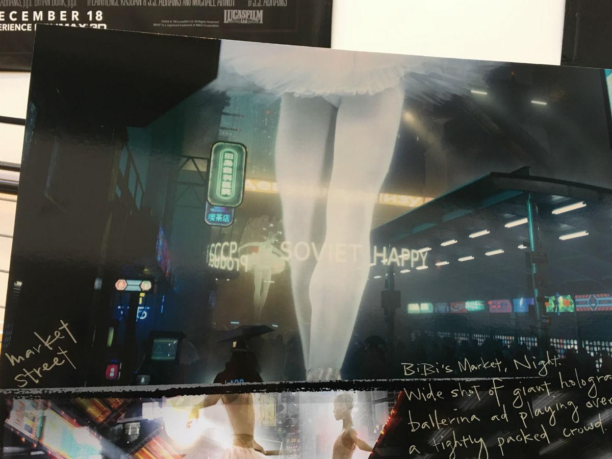 Blade Runner: un concept art del film