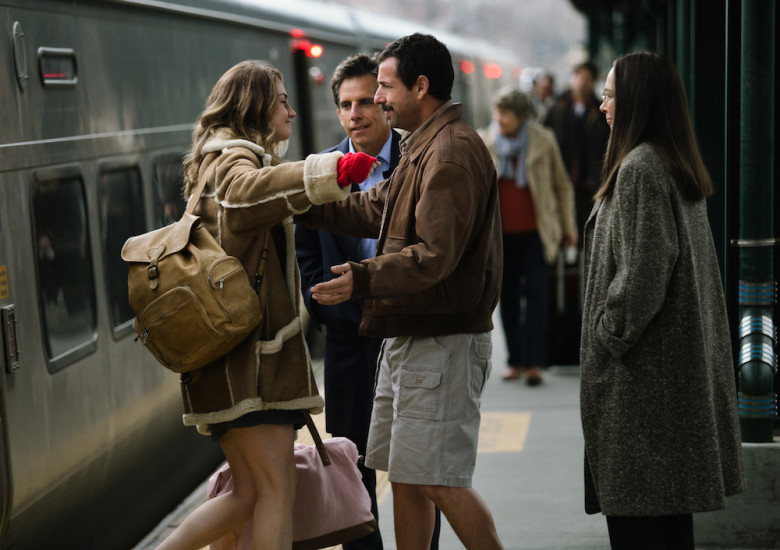The Meyerowitz Stories: Ben Stiller e Adam Sandler in una foto del film