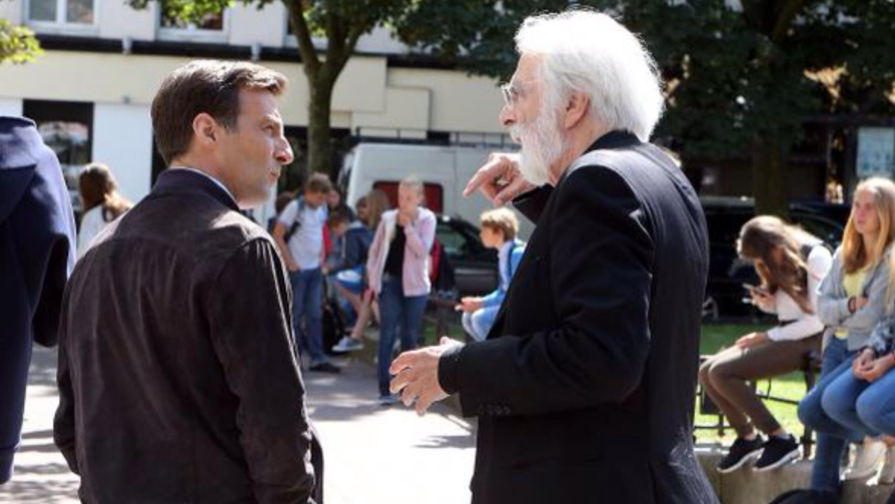Happy End: Michael Haneke e Mathieu Kassovitz sul set