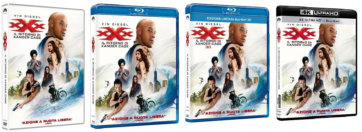Le cover homevideo di XXX - Il ritorno di Xander Cage