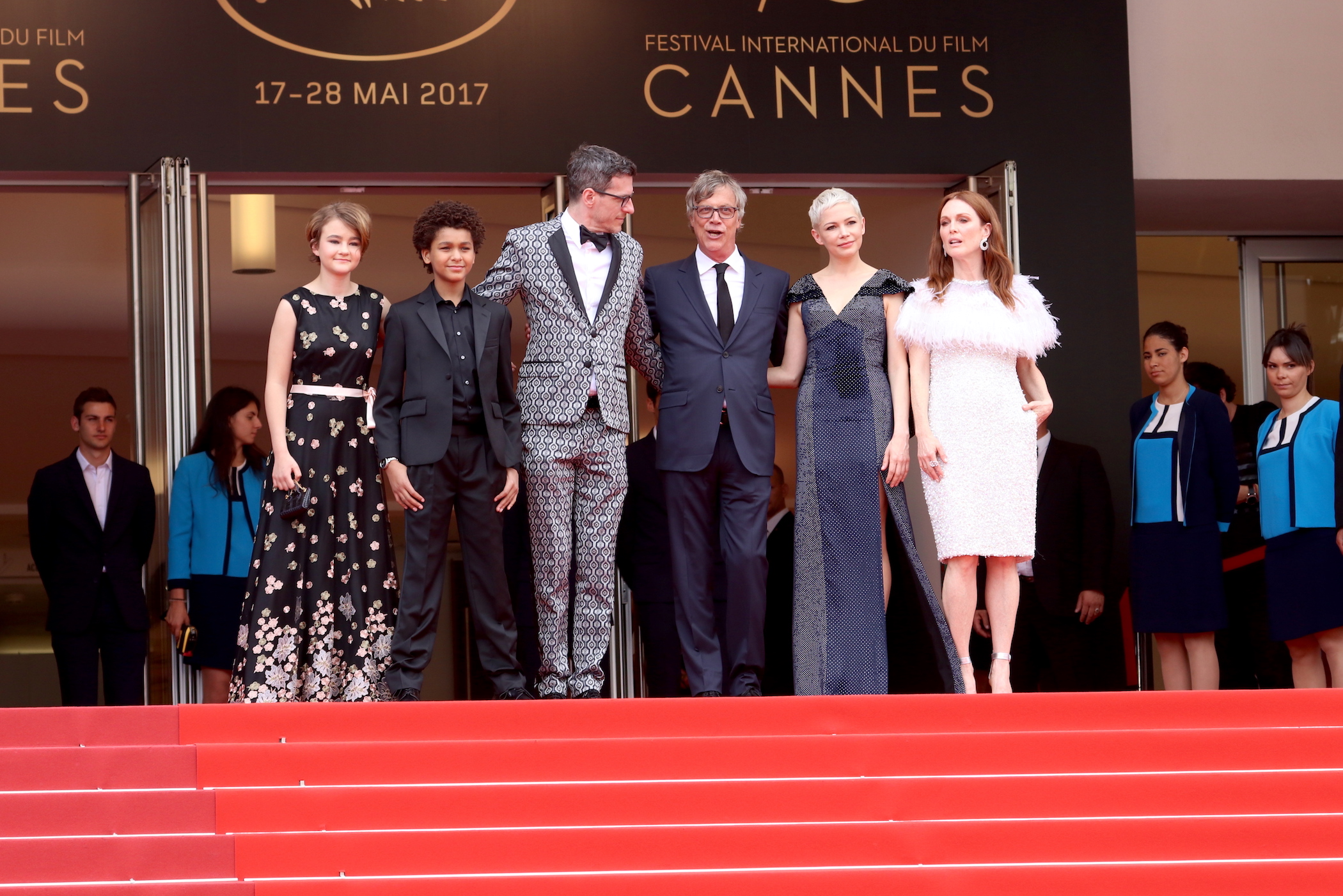 Cannes 2017: uno scatto di Millicent Simmonds, Jaden Michael sul red carpet di Wonderstruck