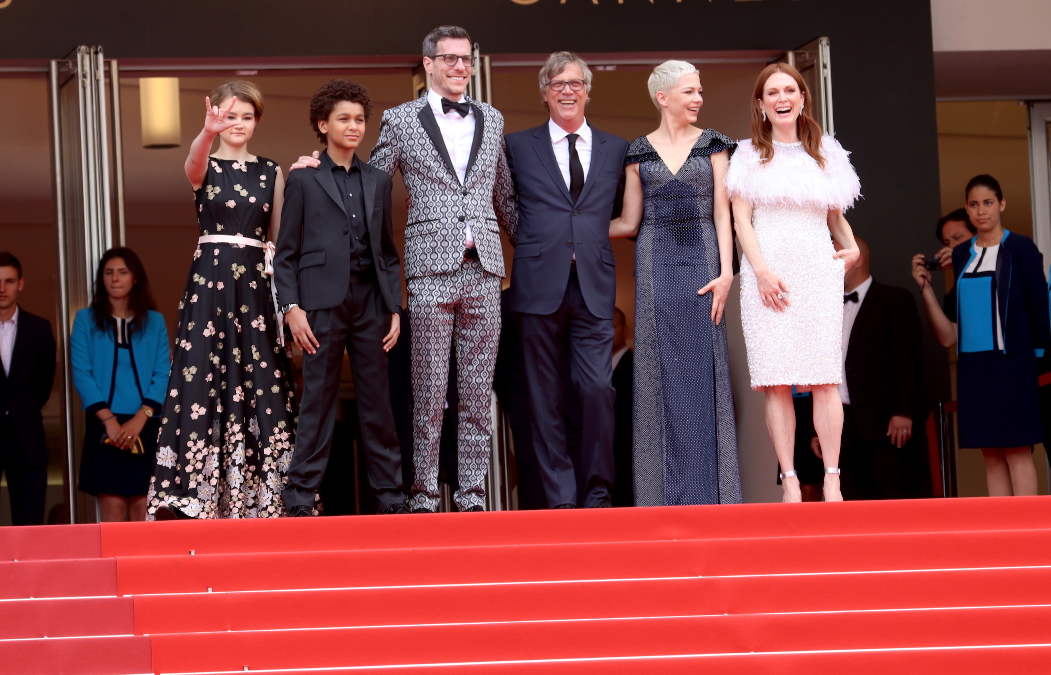 Cannes 2017: Julianne Moore, Michelle Williams, Todd Haynes, Millicent Simmonds, Jaden Michael sul red carpet di Wonderstruck