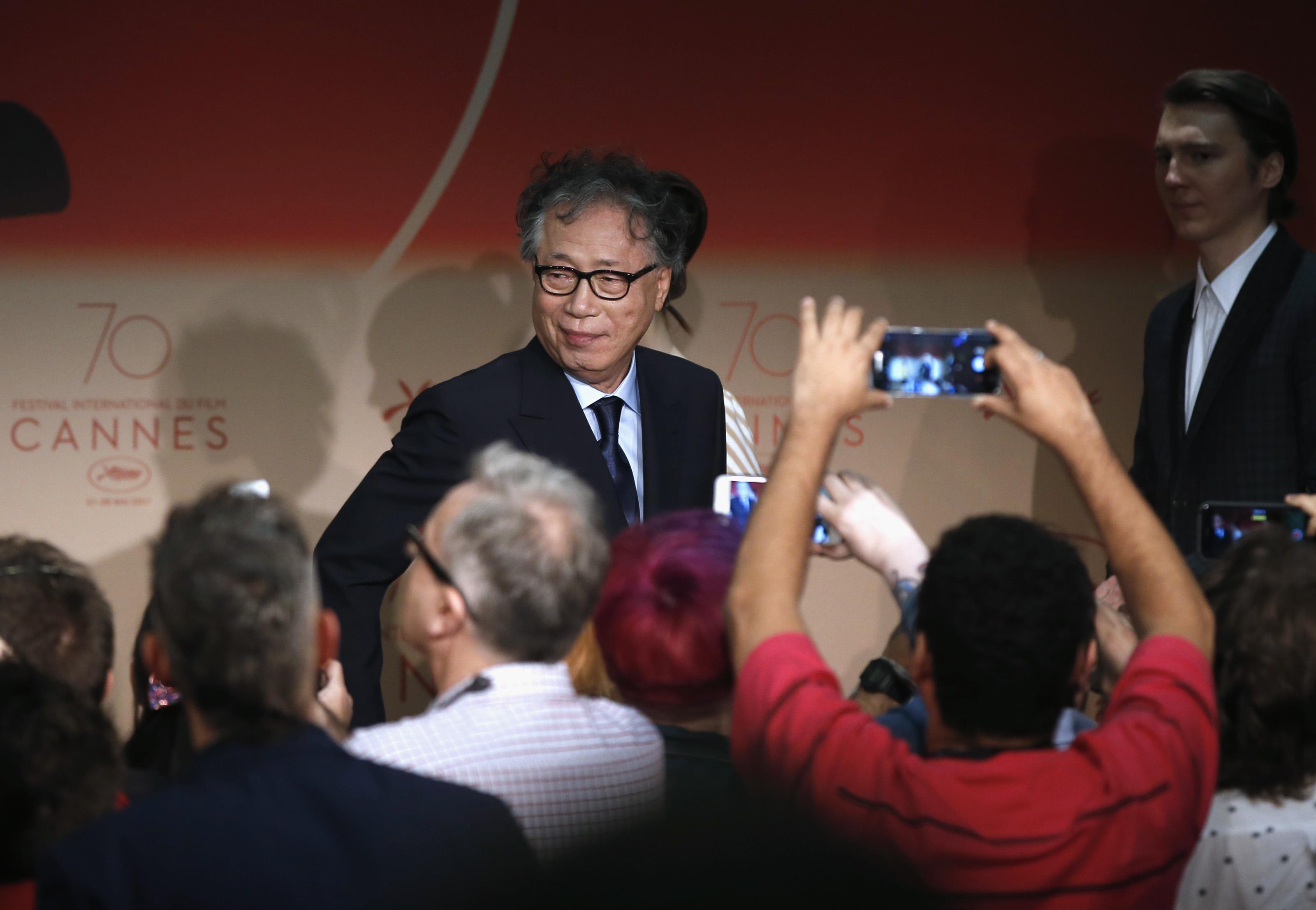 Cannes 2007:  un'immagine della conferenza stampa per Okja