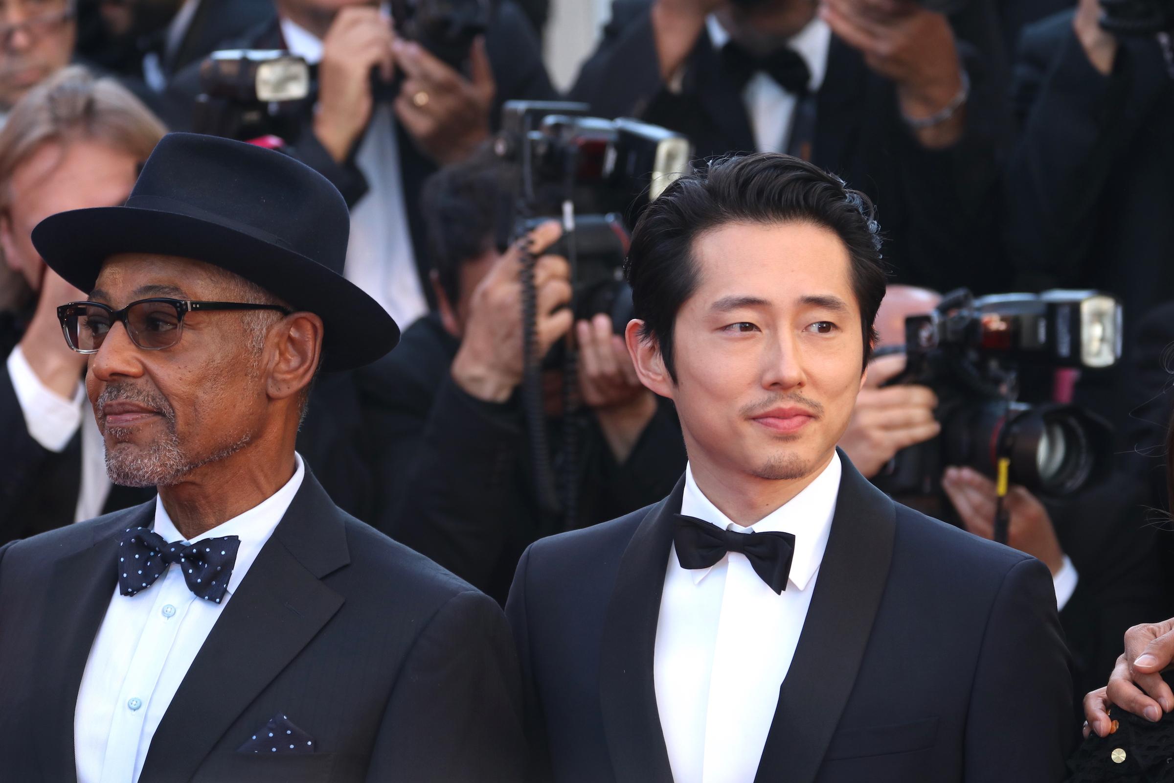 Cannes 2017: Giancarlo Esposito, Steven Yeun sul red carpet di Okja