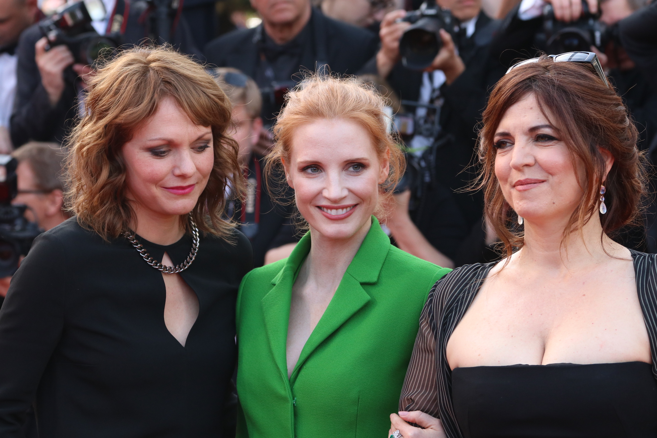 Cannes 2017: Jessica Chastain e Maren Ade sul red carpet di The Meyerowitz Stories