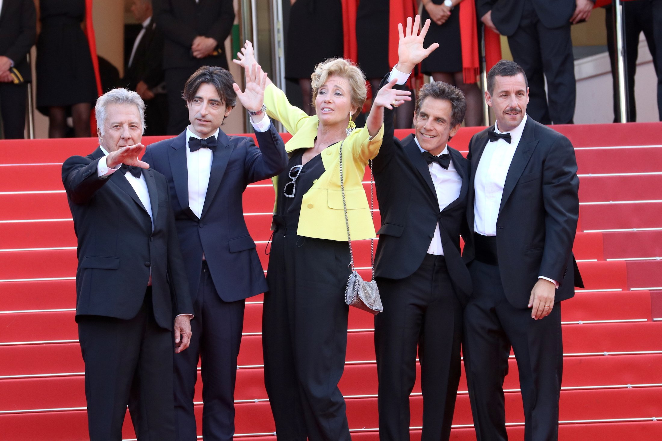 Cannes 2017: uno scatto del cast sul red carpet di The Meyerowitz Stories