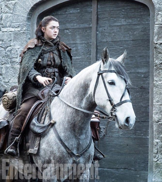 Il Trono di Spade: Maisie Williams in una foto della settima stagione