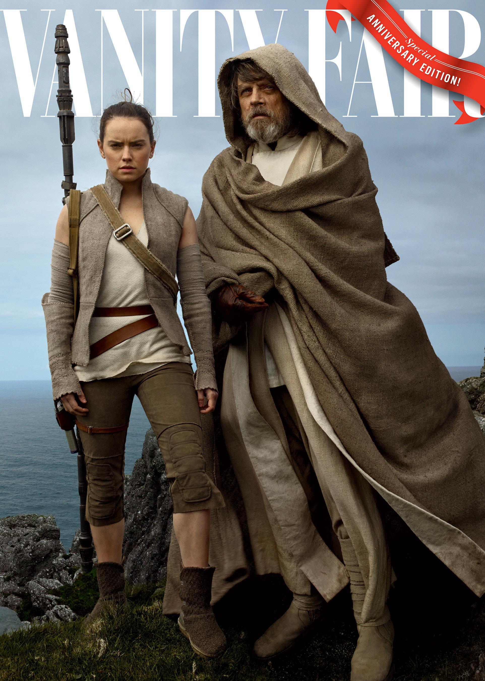 Gli ultimi Jedi: la copertina di Vanity Fair con Daisy Ridley e Mark Hamill