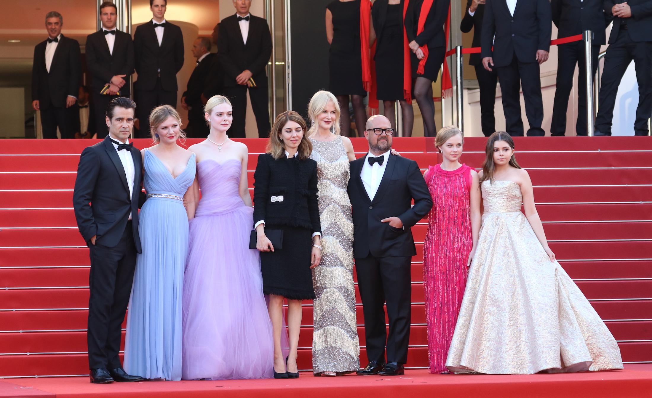 Cannes 2017: uno scatto del cast sul red carpet de L'inganno