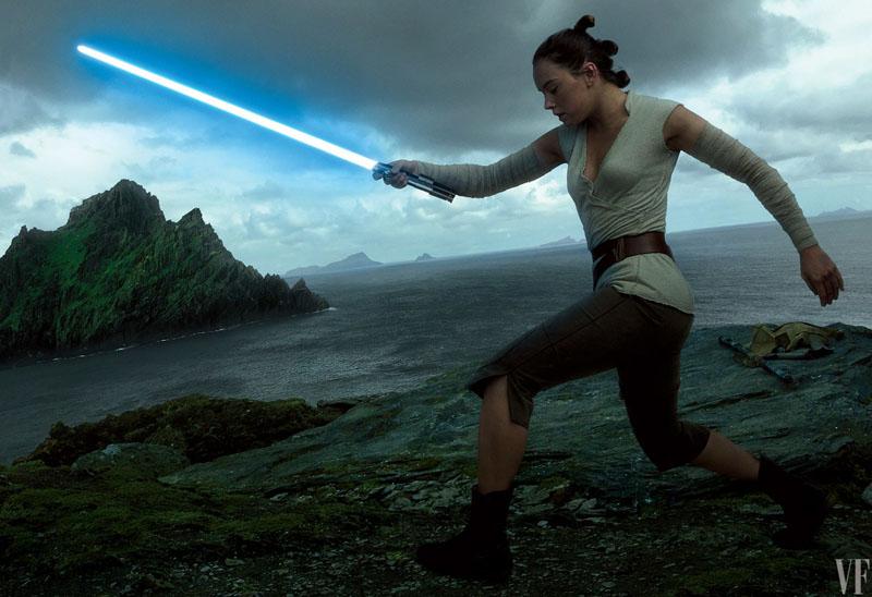 Star Wars: Gli ultimi Jedi - Daisy Ridley in azione