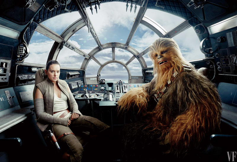 Star Wars: Gli ultimi Jedi - Una foto di Rey e Chewbacca