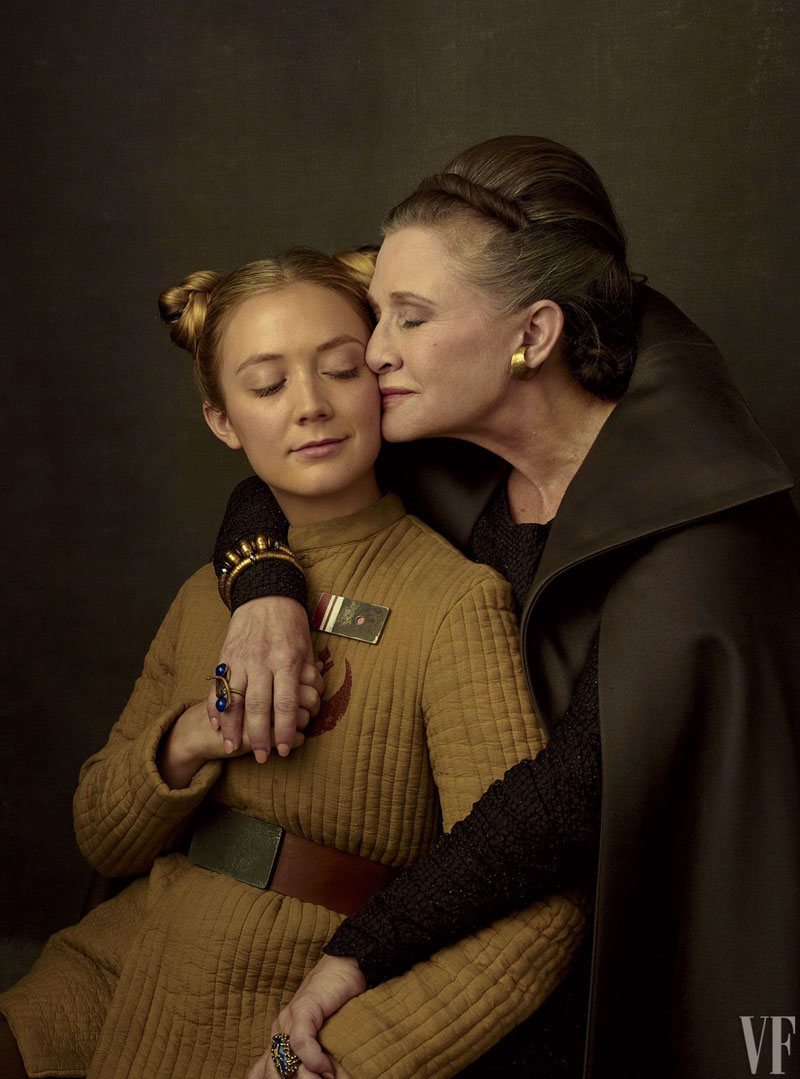 Star Wars: Gli ultimi Jedi - Billie Lourd insieme a sua madre Carrie Fisher