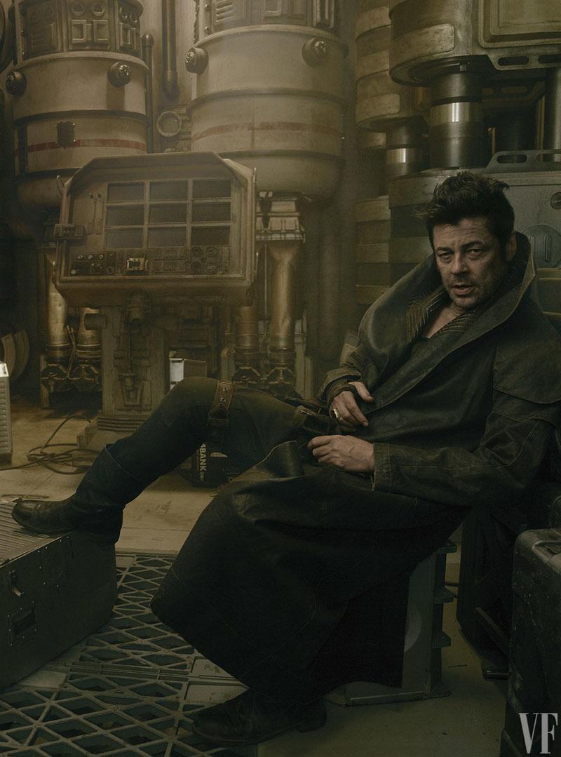 Star Wars: Gli ultimi Jedi - Benicio Del Toro in una foto di Vanity Fair