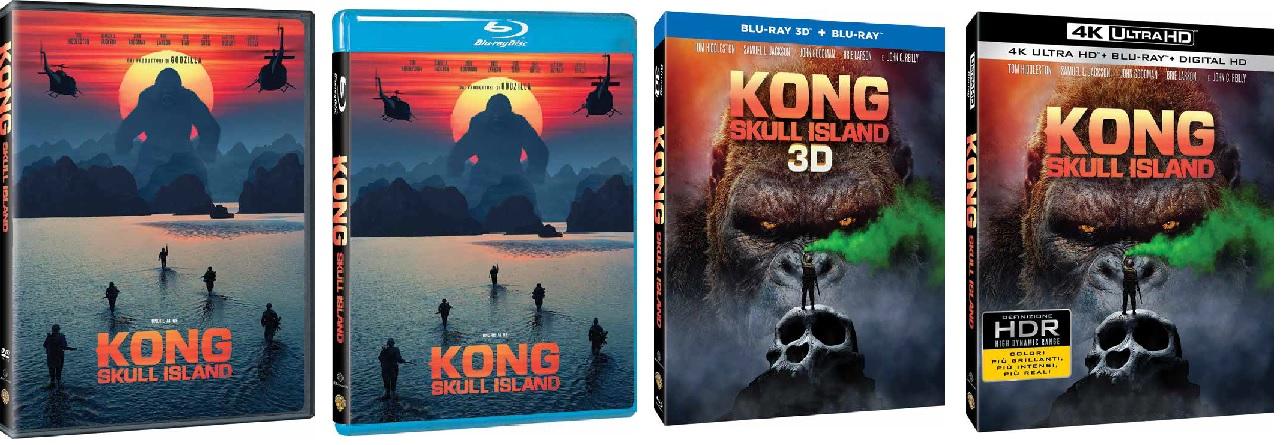 le cover homevideo di Kong: Skull Island
