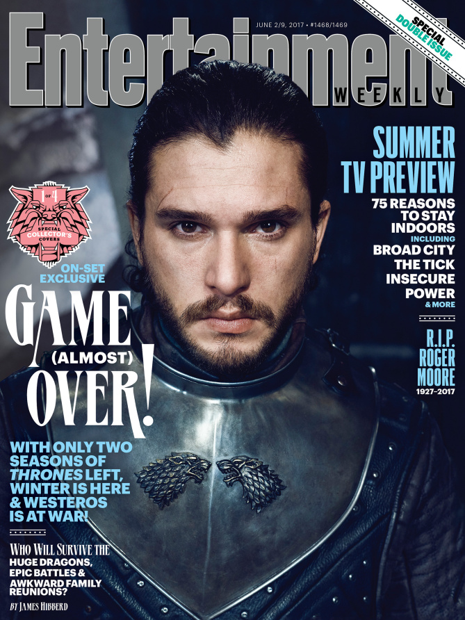 Il trono di spade: Kit Harington nella copertina di Entertainment Weekly