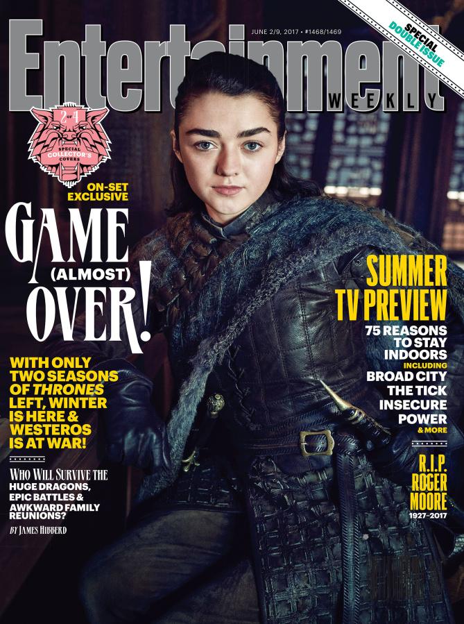 Il trono di spade: Maisie Williams nella copertina di Entertainment Weekly